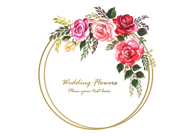 Auguri Anniversario Matrimonio.Cornice Floreale Decorativa Anniversario Di Matrimonio Per