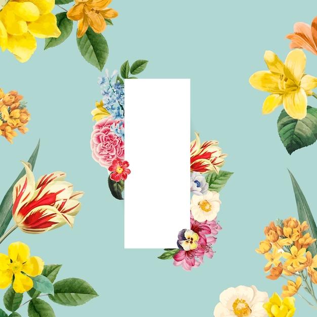 Cornice floreale dipinta dal vettore dell'acquerello Vettore gratuito