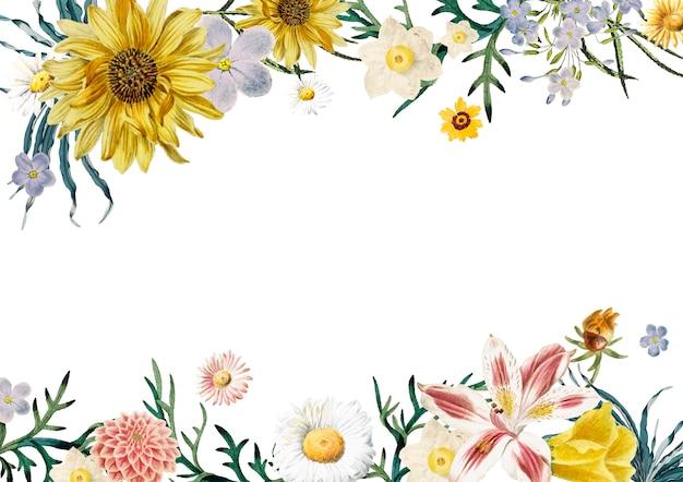 Cornice floreale Vettore gratuito