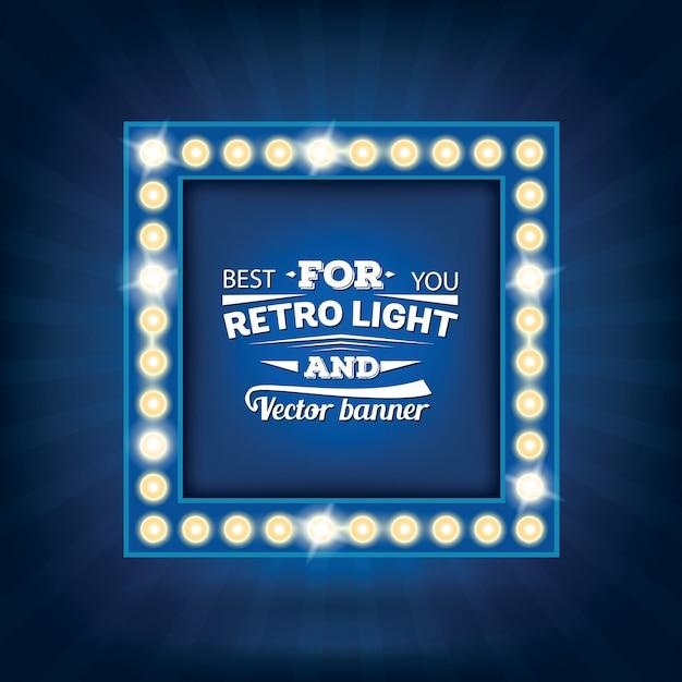 Cornice lampadina retrò Vettore Premium