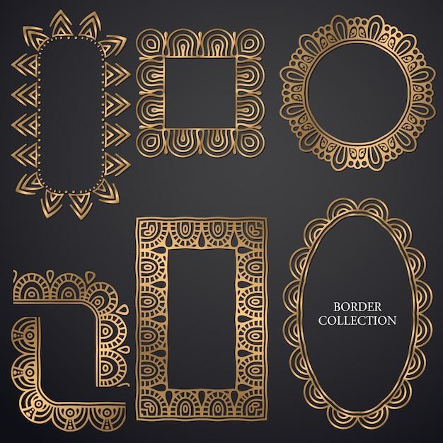 Cornice ornamentale art-deco Vettore gratuito