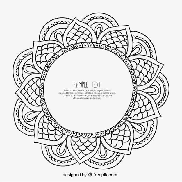 Cornice Ornamentale In Stile Mandala Scaricare Vettori