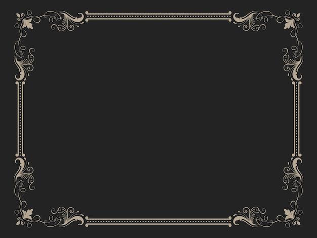 Cornice ornamentale vintage Vettore gratuito