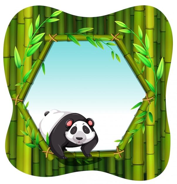 Cornice panda Vettore gratuito