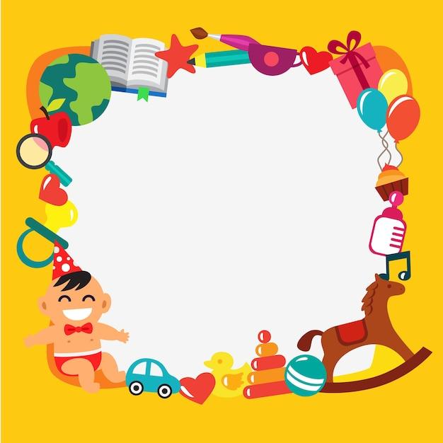Cornice Per Bambini Di Cartone Animato Scaricare Vettori Gratis