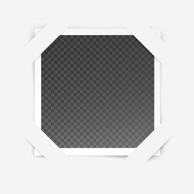 Cornice per foto con effetto speciale trasparente isolato all'interno della cornice Vettore Premium