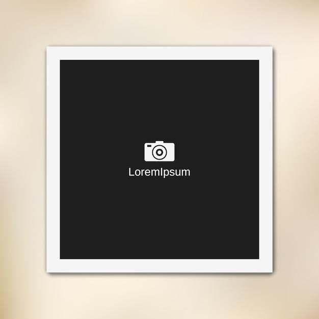 Cornice per foto di carta vuota Vettore Premium