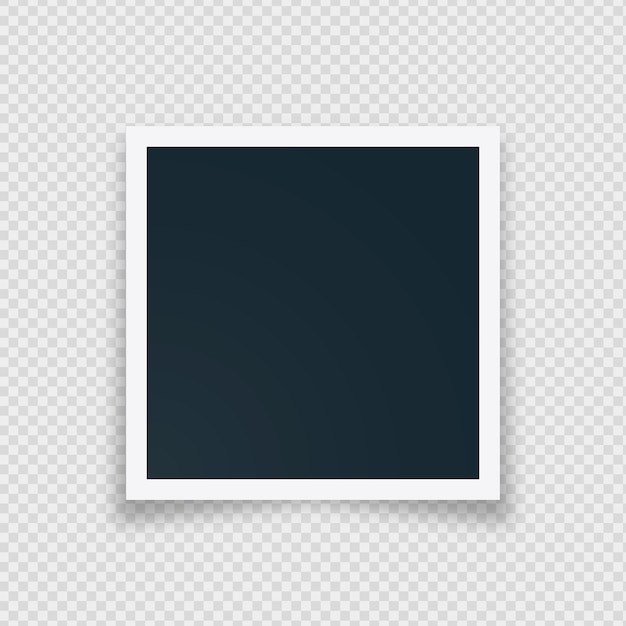 Cornice per foto istantanea vuota Vettore gratuito