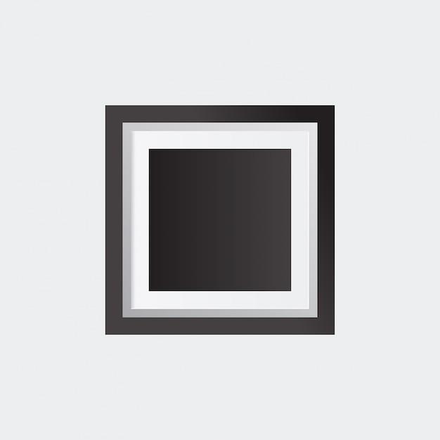 Cornice realistica isolato su sfondo bianco perfetto per le vostre presentazioni illustrazione vettoriale Vettore gratuito