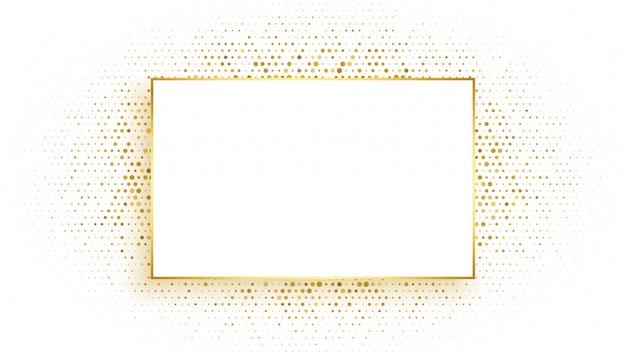 Cornice rettangolare dorata con sfondo glitterato Vettore gratuito