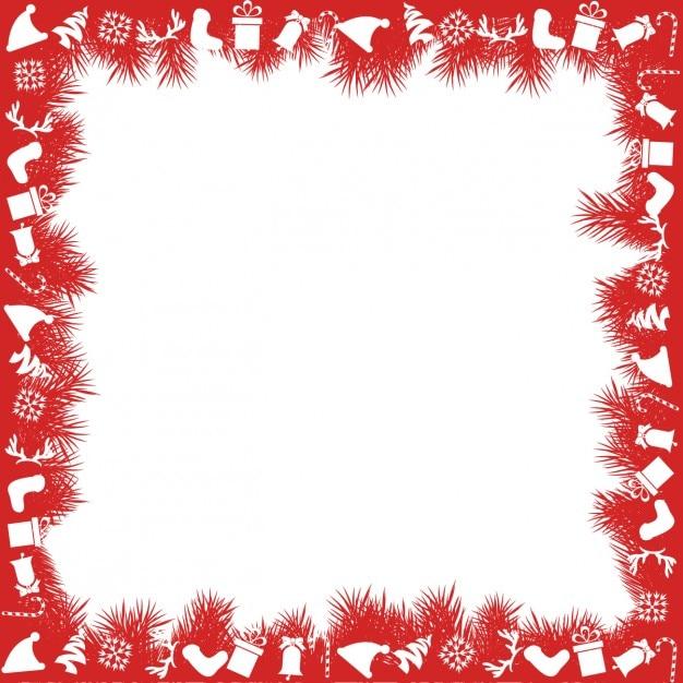 Cornici Di Natale.Cornice Rossa Di Natale Scaricare Vettori Gratis