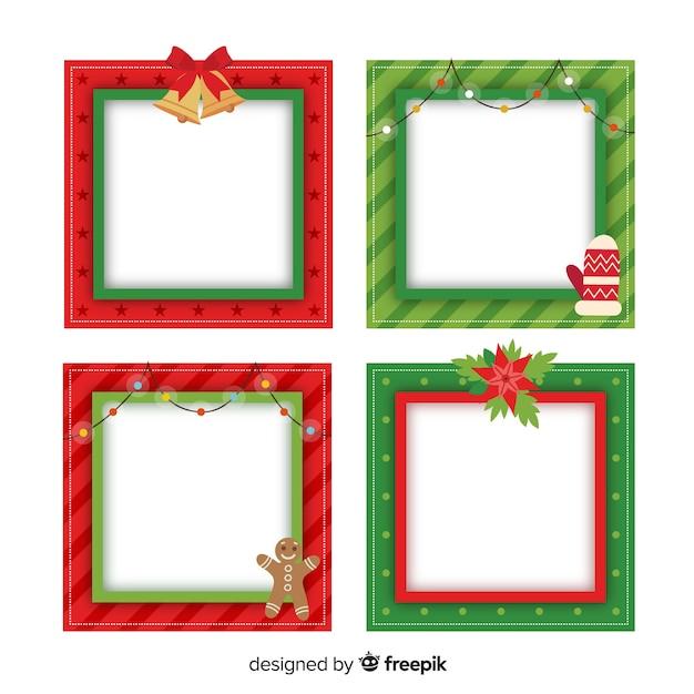 Immagini Cornici Di Natale.Cornici Di Natale Scaricare Vettori Gratis