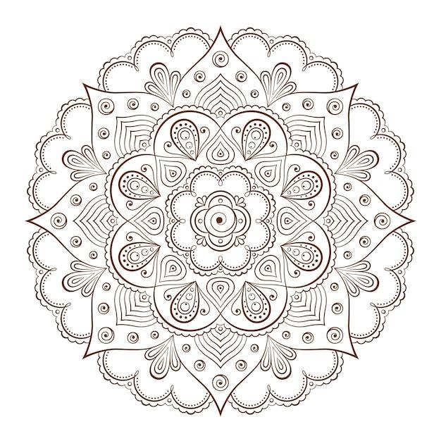 Cornici di sfondo o tatuaggio basate su ornamenti asiatici tradizionali Vettore Premium