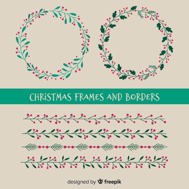 Cornici E Bordi Di Natale Scaricare Vettori Gratis