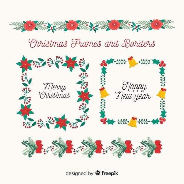 Cornici E Bordo Di Natale Scaricare Vettori Gratis