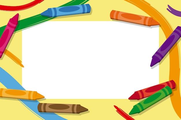 Cornici Per Foto Bambini Da Scaricare Gratis.Cornici Per Bambini Con Matite Colorate Scaricare Vettori