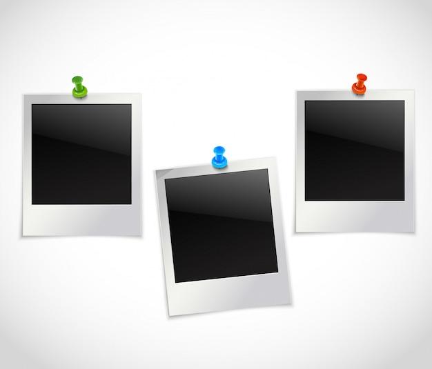 Cornici per foto con simboli Vettore Premium