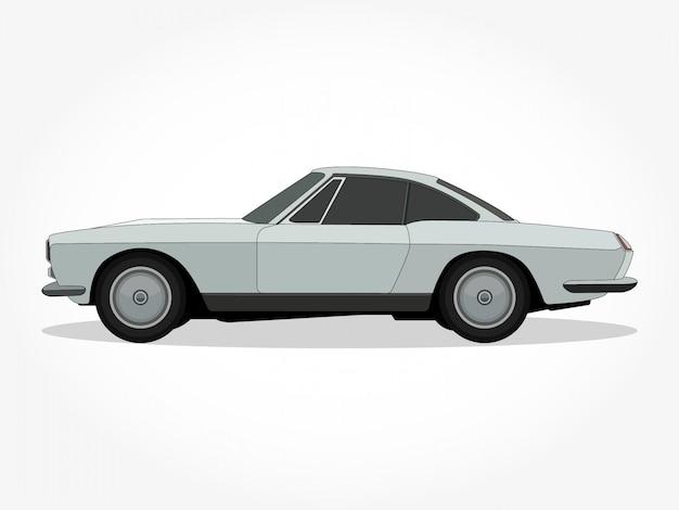 Corpo e orli dettagliati di un'illustrazione di vettore del fumetto dell'automobile Vettore Premium