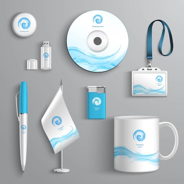 Corporate identity design Vettore gratuito