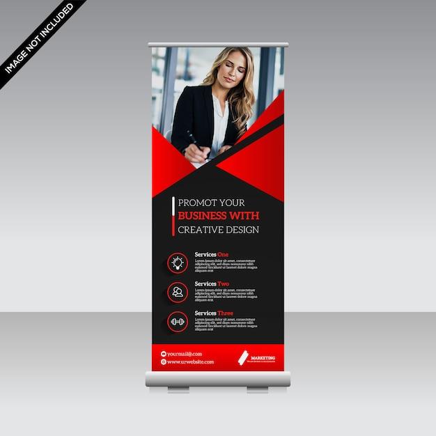 Corporate roll up banner premium vector Vettore Premium