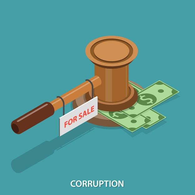 Corruzione piatta isometrica Vettore Premium