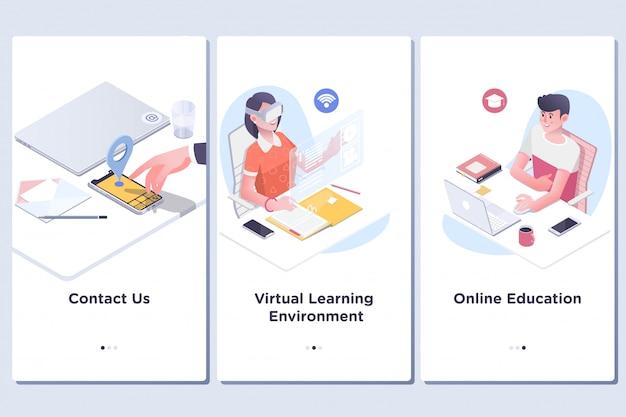 Corsi di formazione online per l'istruzione Vettore Premium