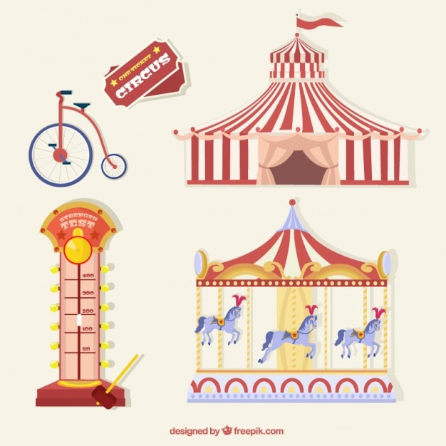 Cose circo pacco Vettore gratuito