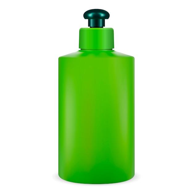 Cosmetici bottiglia verde Vettore Premium