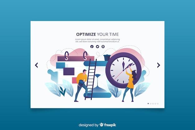 Costruire modi efficienti per essere puntuali sulla landing page Vettore gratuito