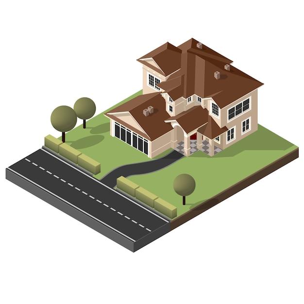 Cottage americano, villa Vettore Premium