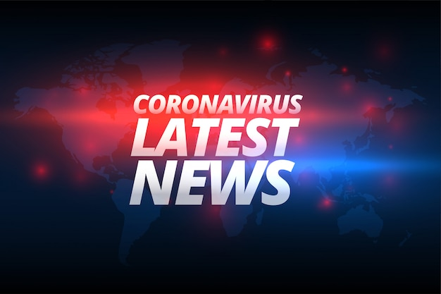 Covid-19 coronavirus ultime notizie banner design concept Vettore gratuito