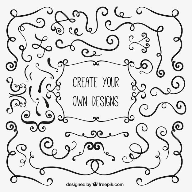 Crea i tuoi disegni ornamentali scaricare vettori gratis for Crea i tuoi progetti