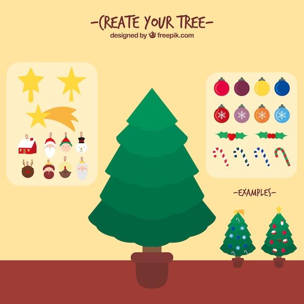 Crea il tuo albero di natale scaricare vettori gratis for Crea il tuo progetto di casa