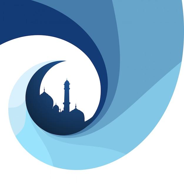 Creativo islamico festival sfondo di progettazione Vettore gratuito
