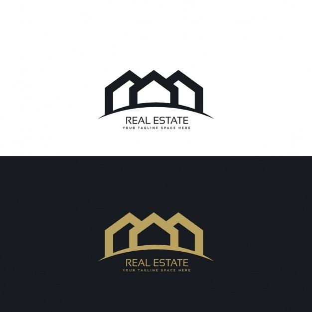 Creativo minima immobiliare logo design concept for Design minimalista