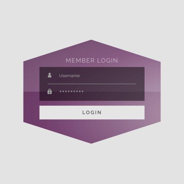 Creativo segno membro nel design sotto forma di interfaccia utente Vettore gratuito