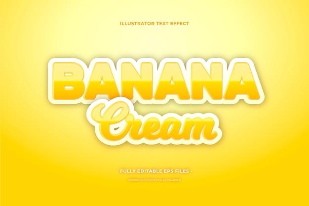 Crema banan effetto testo Vettore gratuito