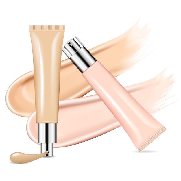 Crema cosmetica in crema bb per fondotinta pelle Vettore Premium