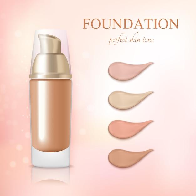 Crema cosmetica per correttori alla base realistica Vettore gratuito