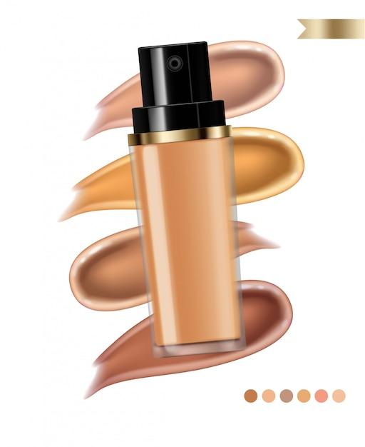 Crema cosmetica per fondotinta Vettore Premium
