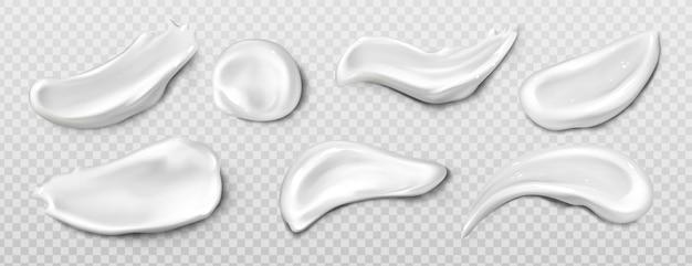 Crema cosmetica, sbavatura di dentifricio Vettore gratuito