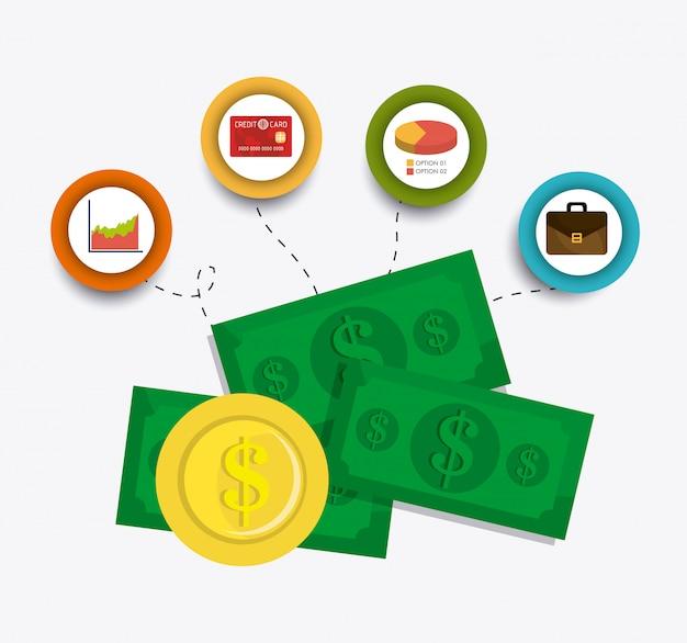 Crescita del business e risparmio di denaro Vettore gratuito