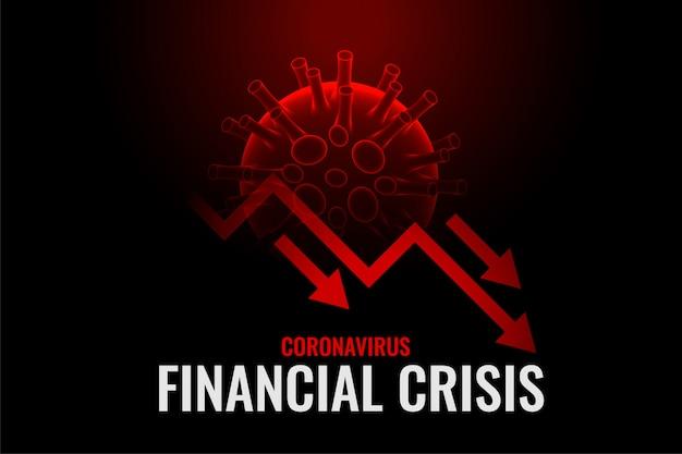 Crisi finanziaria dovuta al disegno di sfondo del coronavirus Vettore gratuito