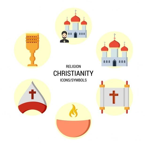 Cristianesimo simbolo icona Vettore gratuito