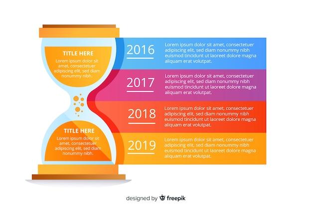 Cronologia aziendale infografica Vettore gratuito