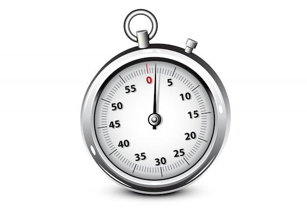 Cronometro d'argento realistico Vettore Premium