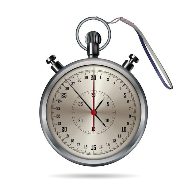 Cronometro immagine realistica. Vettore Premium