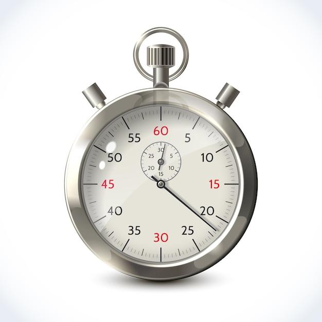 Cronometro metallico realistico Vettore Premium