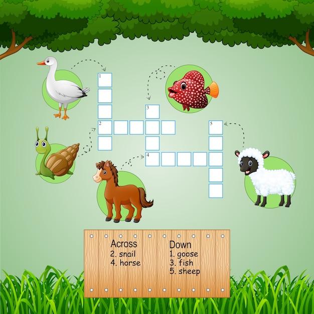 Cruciverba di fattoria degli animali per giochi per for Giochi per bambini di un anno