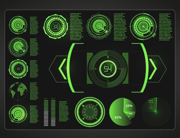 Cruscotto automobilistico del futuro. macchina ibrida. diagnostica ed eliminazione di guasti. Vettore Premium